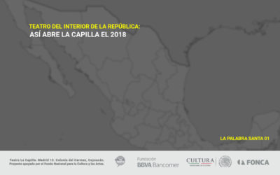 Teatro del Interior de la República: Así abre La Capilla el 2018.