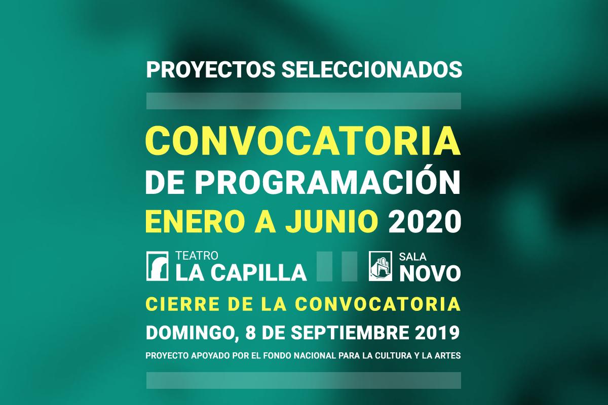 Proyectos seleccionados. Convocatoria de programación, enero – junio 202