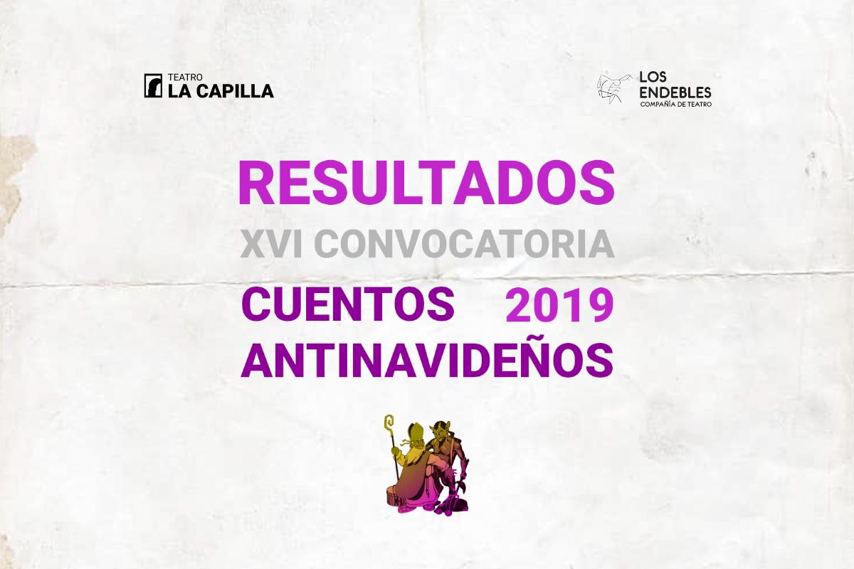 RESULTADOS XVI convocatoria Cuentos Antinavideños 2019