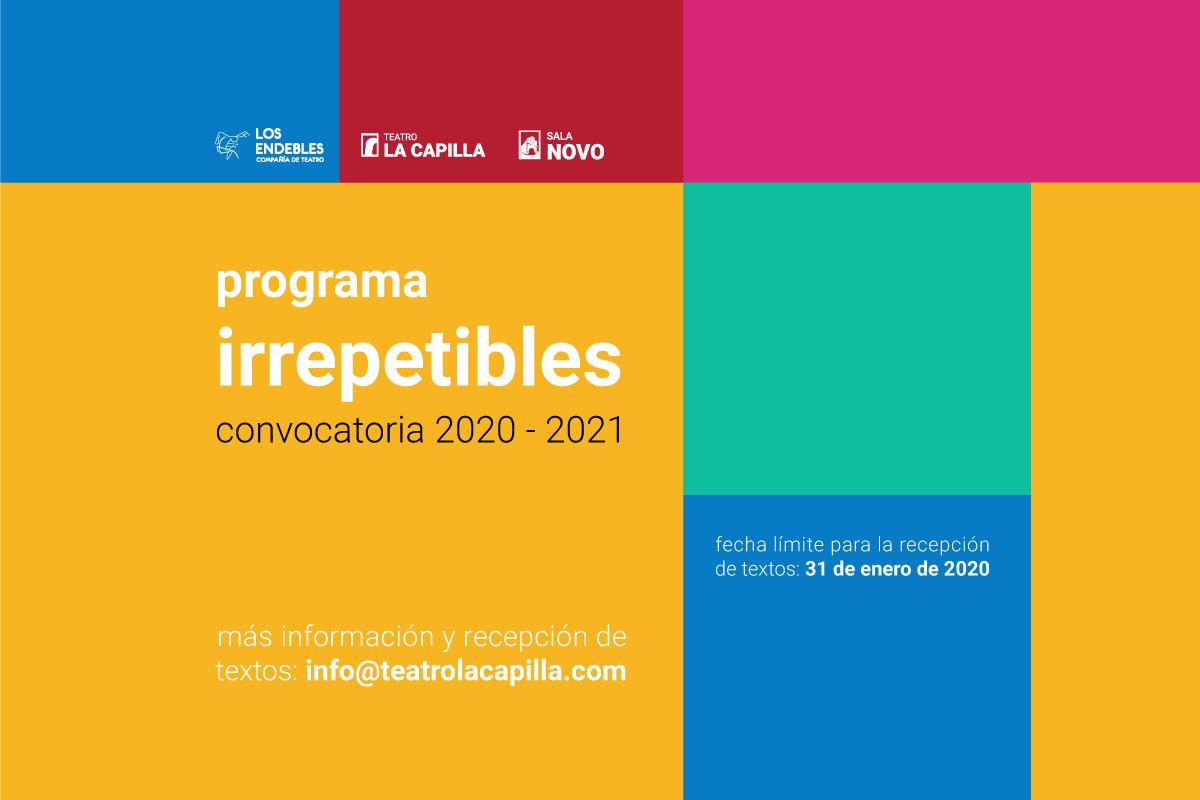 Convocatoria Programa Irrepetibles 2020-2021