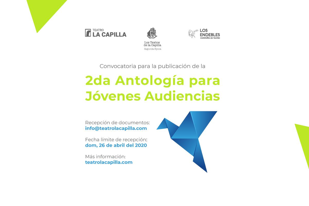 """Convocatoria: Publicación de la """"2da Antología para Jóvenes Audiencias"""""""