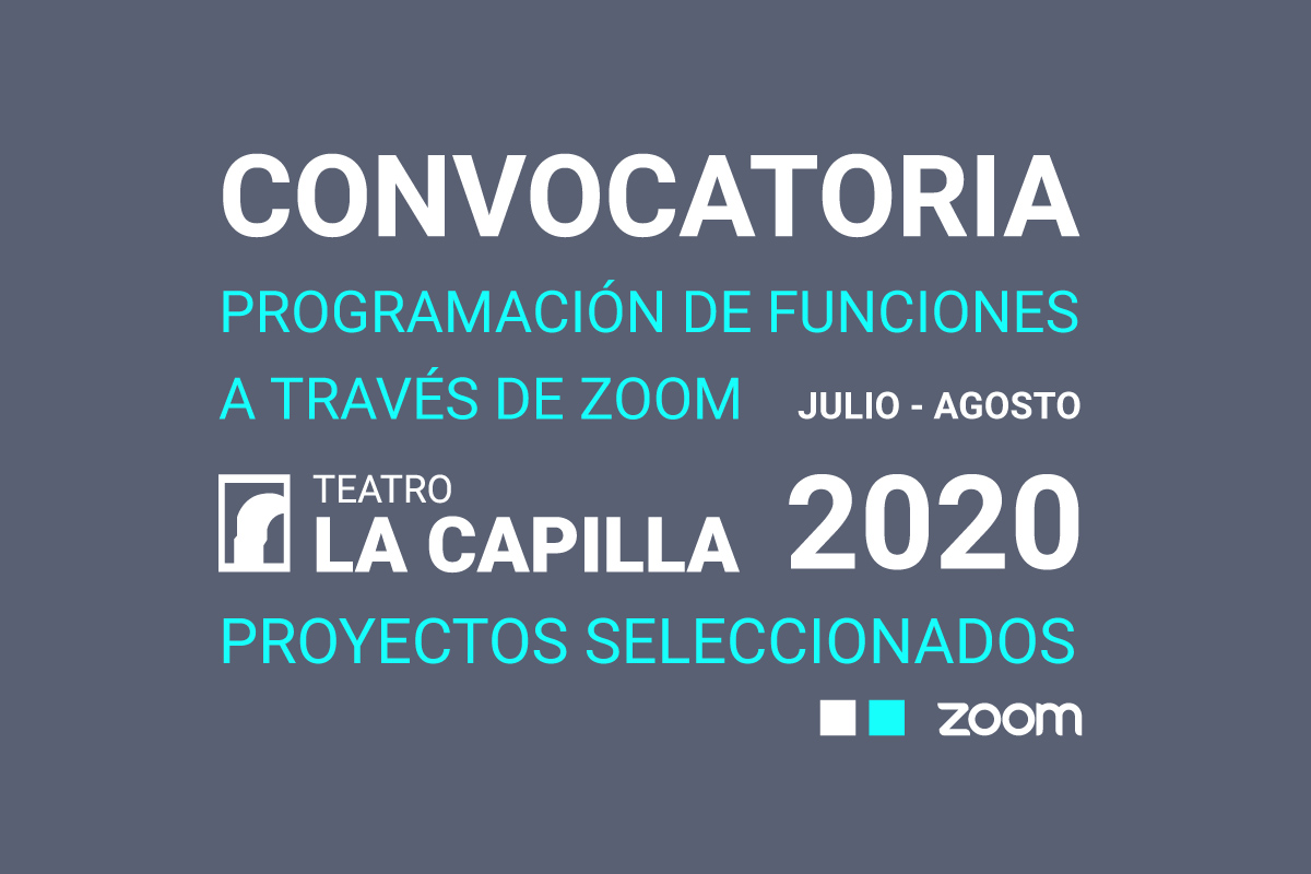 Convocatoria: Programación de funciones a través de Zoom, periodo julio – agosto 2020