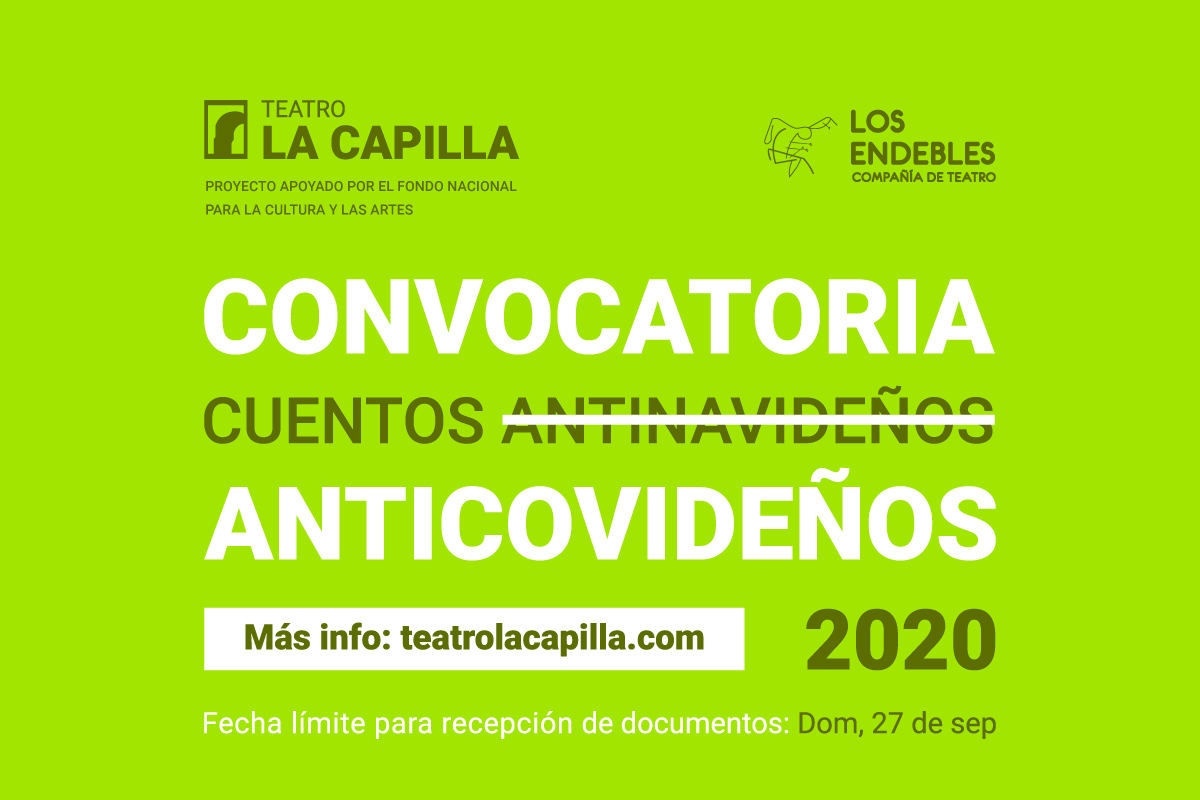 Convocatoria: Cuentos Anticovideños 2020