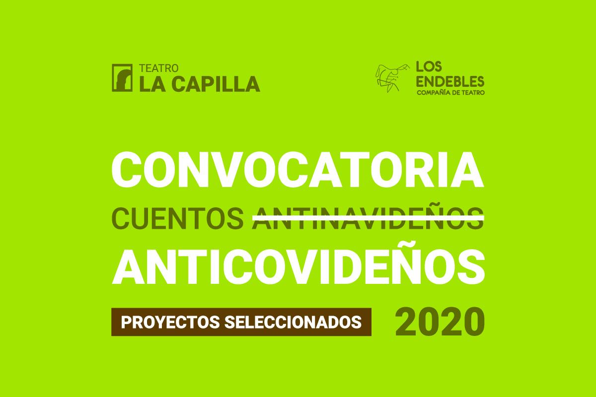 Resultados de la convocatoria: Cuentos Anticovideños 2020